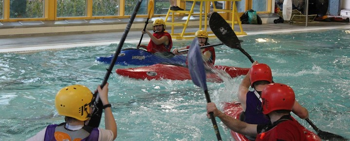 Winter Kayak Polo